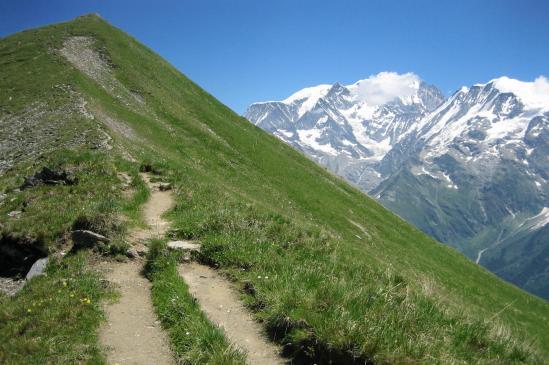 Sur la crête entre l'Aiguille Croche et le sommet du Mont Joly