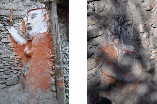 Le mémé et iwi qui protègent la cité de Kagbeni