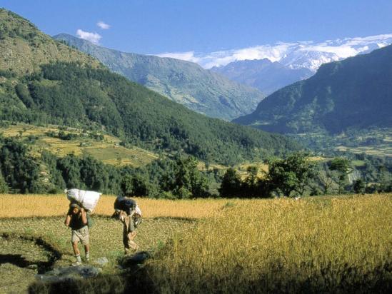 Le Ngadi peak vu depuis Khudi