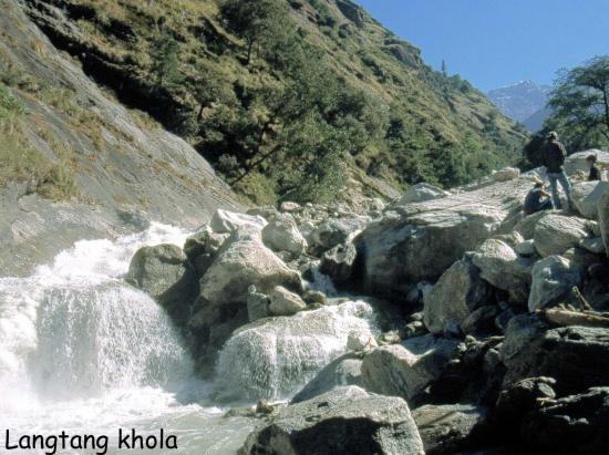 La Langtang khola du côté de Bamboo lodge