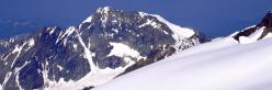 Le Mont Tondu vu du Glacier des Glaciers au-dessus du refuge Robert Blanc