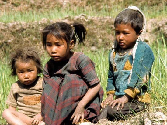 Groupe d'enfants à Muri