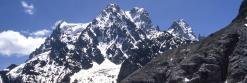 Le Pelvoux vu depuis le refuge du Glacier Blanc