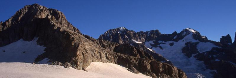 A l'approche du col du Sélé (Pointe du Sélé et Ailefroide)