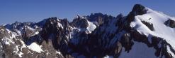 La Roche Faurio vue depuis l'itinéraire d'ascension du Dôme de Neige des Ecrins