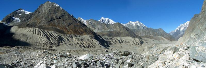 Sur le Trakarding glacier
